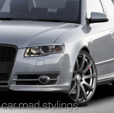 White Plastic Eyebrows to fit Audi A4 B7 Brows/Eyelids/Head Light/Avant/RS4/S4