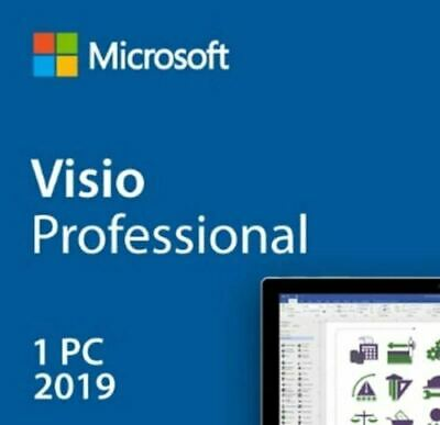 Instant Official Microsoft Visio 2019 Professional 1 PC key + Download Link!