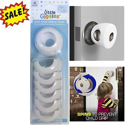 Door Knob Child Safety Cover Grip Twist Proof Safe Lock Guard Kids Toddler 4PCS