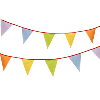 VE DAY BUNTING Triangle Flag POLYESTER 6m 20 Flags 8TH MAY 75th