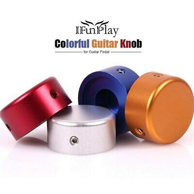 Electric Guitar Knob Candy Color Pedal Foot Nail Cap Foot Switch Shine On Stage