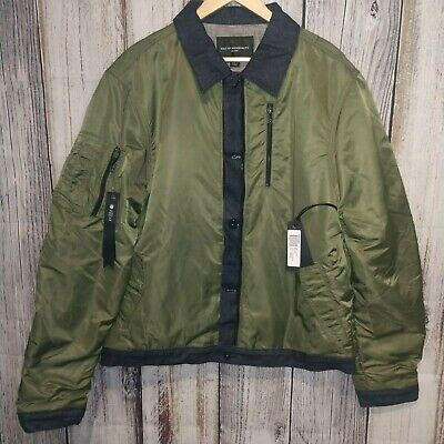 Cult of Individuality Mens Camouflage Reversible Bomber Jacket Size M