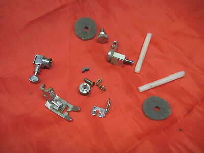 Singer 413 Stylist Sewing Machine Parts Needle Clamp Foot Guides Spool Vintage
