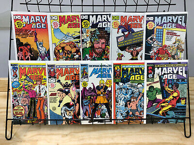 Marvel Age #1 2 3 4 5 8 9 10 15 18 Lot of 10 Issues Marvel Comics