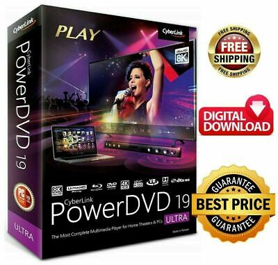 CyberLink PowerDVD Ultra 19 Full Version 64bit Lifetime License Instant Deliv