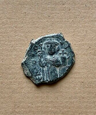 Byzantine bronze follis of Constans emperor (?) (7th cent.). A very nice coin!