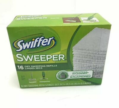 Swiffer Sweeper Dry Mop Pad Refills Cleaning Cloths 16 per box ~ 2 BOXES
