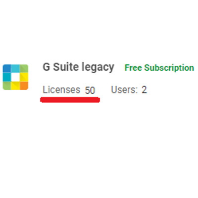 Domain name with 50 users Licenses for Google Apps (G Suite Legacy)⚡