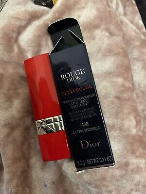 Dior Ultra Rouge Pigmented Hydra LIpstick  weightless wear 436 Ultra Trouble