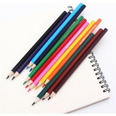 12 Colors Colored Pencils Set Artist Painting Sketching Wooden Professional Oil