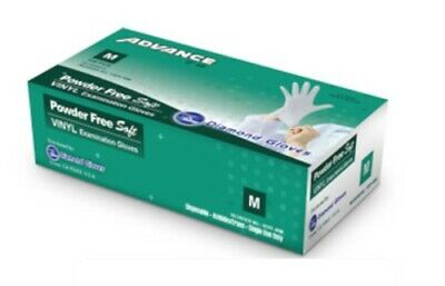 Vinyl Disposable Gloves clear size: M 100 box (medial grade)