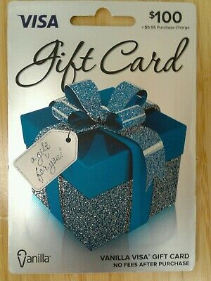 $100 GIFT CARD. ACTIVATED. FREE SHIPPING! No Fees After Purchase.
