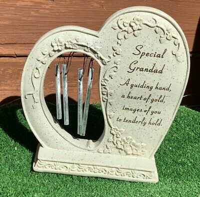 Heart Wind Chime for Grandad Grave cemetery memorial ornament mothers day