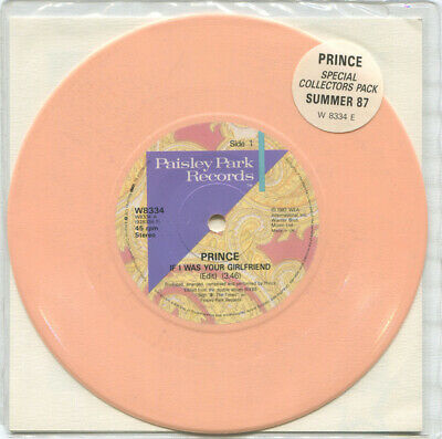 """PRINCE - If I Was Your Girlfriend RARE PEACH VINYL 7"""" PACK Near Mint 1987"""