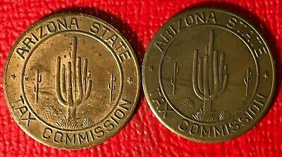 2 Arizona State 5 Cents Sales Tax Payment Token-Feb427
