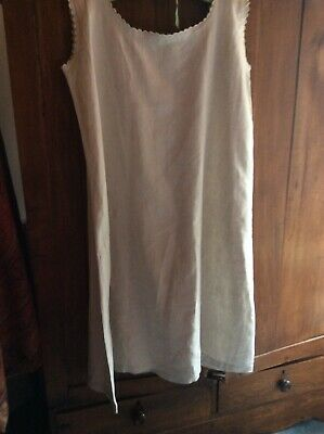 Heavy Vintage French Linen Woman's Nightgown
