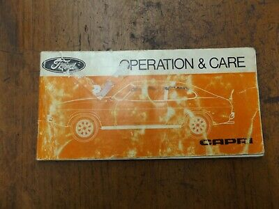 old vintage ford capri operation and care book barn find
