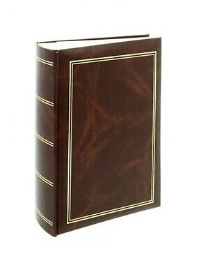 "Classic Large Brown Slip In Photo Album Holds 300 6"" x 4"" Photos Memo Area Gift"