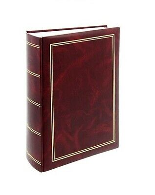 "Classic Large Red Slip In Photo Album Holds 300 6"" x 4"" Photos Memo Area Gift"