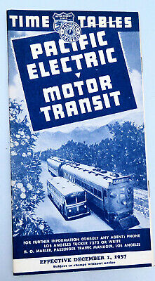 Los Angeles - Pacific Electric Railway - Motor Transit December 1937 Timetables
