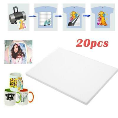 20PCS A4 Iron On T-Shirt Transfer Paper For Light Fabric DIY Gift Inkjet Print
