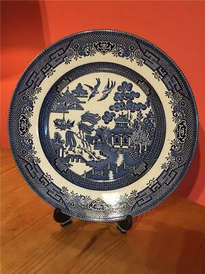 """Vintage  Willow Pattern Plate 9.5"""" Churchill"""