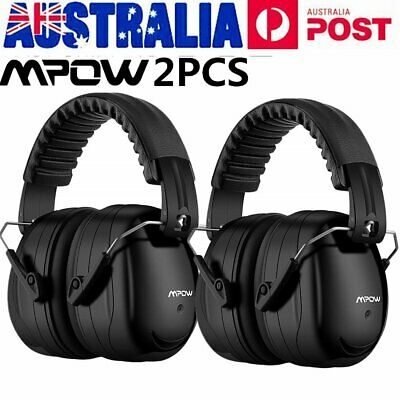 AU Mpow Noise Reduction Safety Ear Muff w/Ear Plugs Earmuff for Shooting Hunting