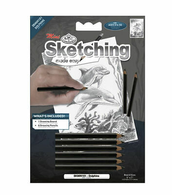 MINI Sketching Made Easy Royal & Langnickel Art Project DOLPHIN (534)