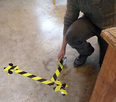 Floor marking tape for social distance queuing areas - Laminated, adhesive tape