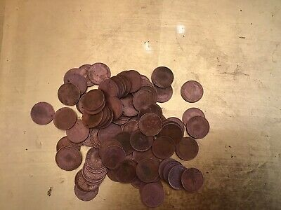 100 Half New Penny Circulated 1971 - 1974