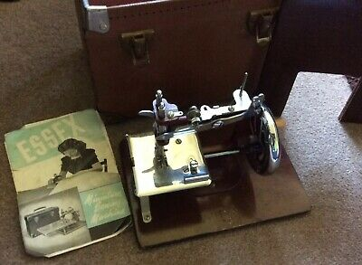 Essex Miniature Sewing Machine Very Rare Vintage With Case No Reserve!