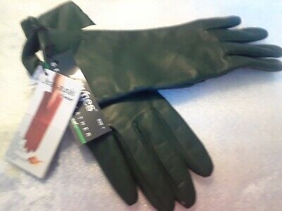 Ladies Leather Gloves Cashmere Lined Warm Winter Size 6 Gray New NOS 19-1402BJ