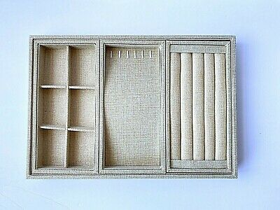 VIEFIN Sackcloth Stackable Jewelry Tray