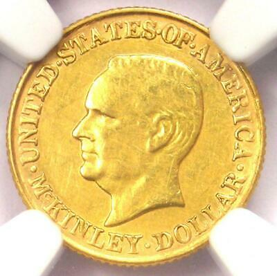 1917 McKinley Commemorative Gold Dollar Coin G$1 - Certified NGC AU Details!