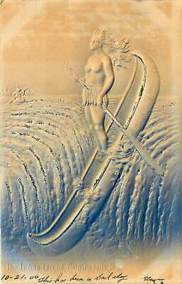 Native American Embossed Postcard: The Indian Legend, Niagara Falls, Ny