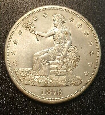 1876-S Silver Trade Dollar.  LOW SHIPPING!! UNC/Details