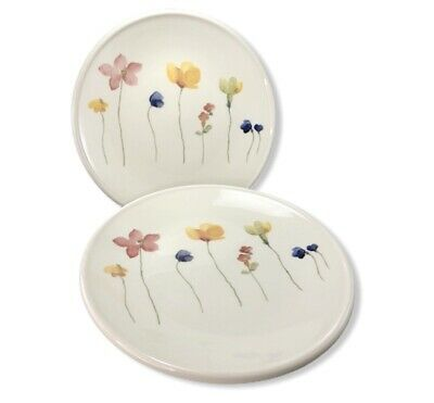 "TWO Royal Stafford Fine Earthenware 8.5"" Scattered Flowers Salad Plates England"