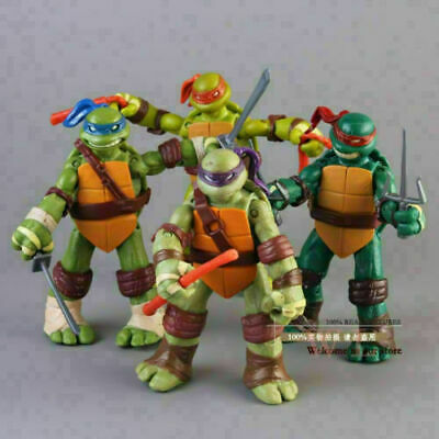 4Pcs Teenage Mutant Ninja Turtles Action Figures Toys TMNT Kid Toy Birthday Gift