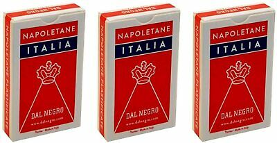 Napoletane Italia Calendered and Canvas Italian Playing Cards Deck of 40 Cards