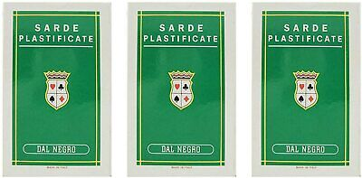 Dal Negro Sarde Italian Regional Playing Cards Green Case Deck of 40 Cards