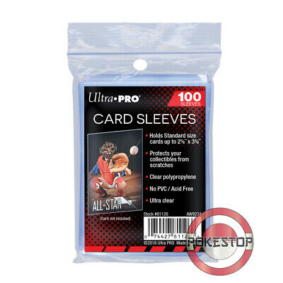 100 Protèges Cartes/Sleeves Soft Card Ultra PRO Transparent