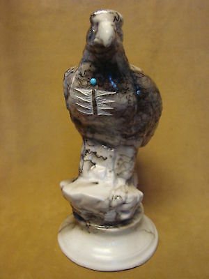 Native American Pottery Horsehair Eagle Sculpture by Vail! Navajo Pot