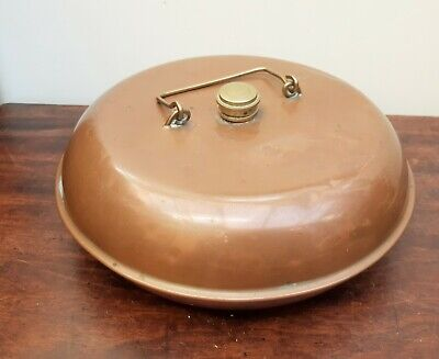 Vintage Copper Bed Foot Warmer Hot Water Bottle Up-cycle Project