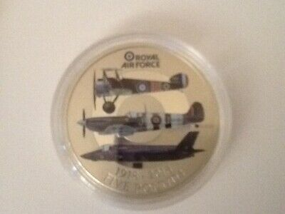 Royal Air Force Centenary £5 COIN 1918-2018. New and uncirculated. Beautiful !!