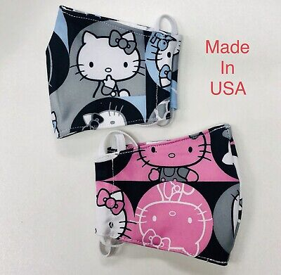 Pack of 2 KIDS FABRIC Reusable Comfort Face Mask Cover Washable USA Made
