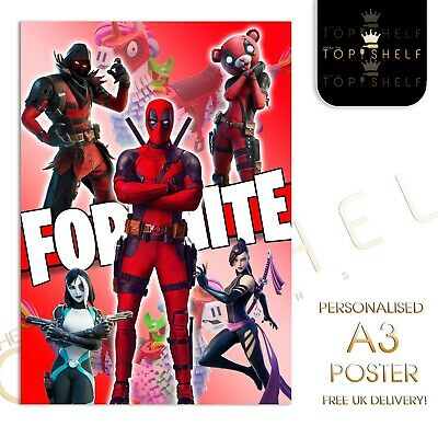 Personalised A3 Fortnite chapter 2 season 2 Deadpool poster