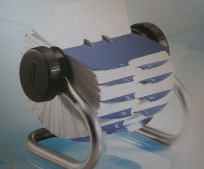 Rolodex w 500 Cards ~Tabs A-Z~ Chrome  in Original Box