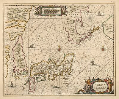 Map of Japan and Korea as an Island by: Jansson, 1658