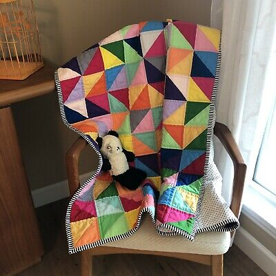 Handmade Baby Quilt Primary Colors