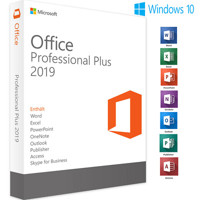 Microsoft Office 2019 Professional Plus Download and Key 32/64 Bit✔️Rápido Envío